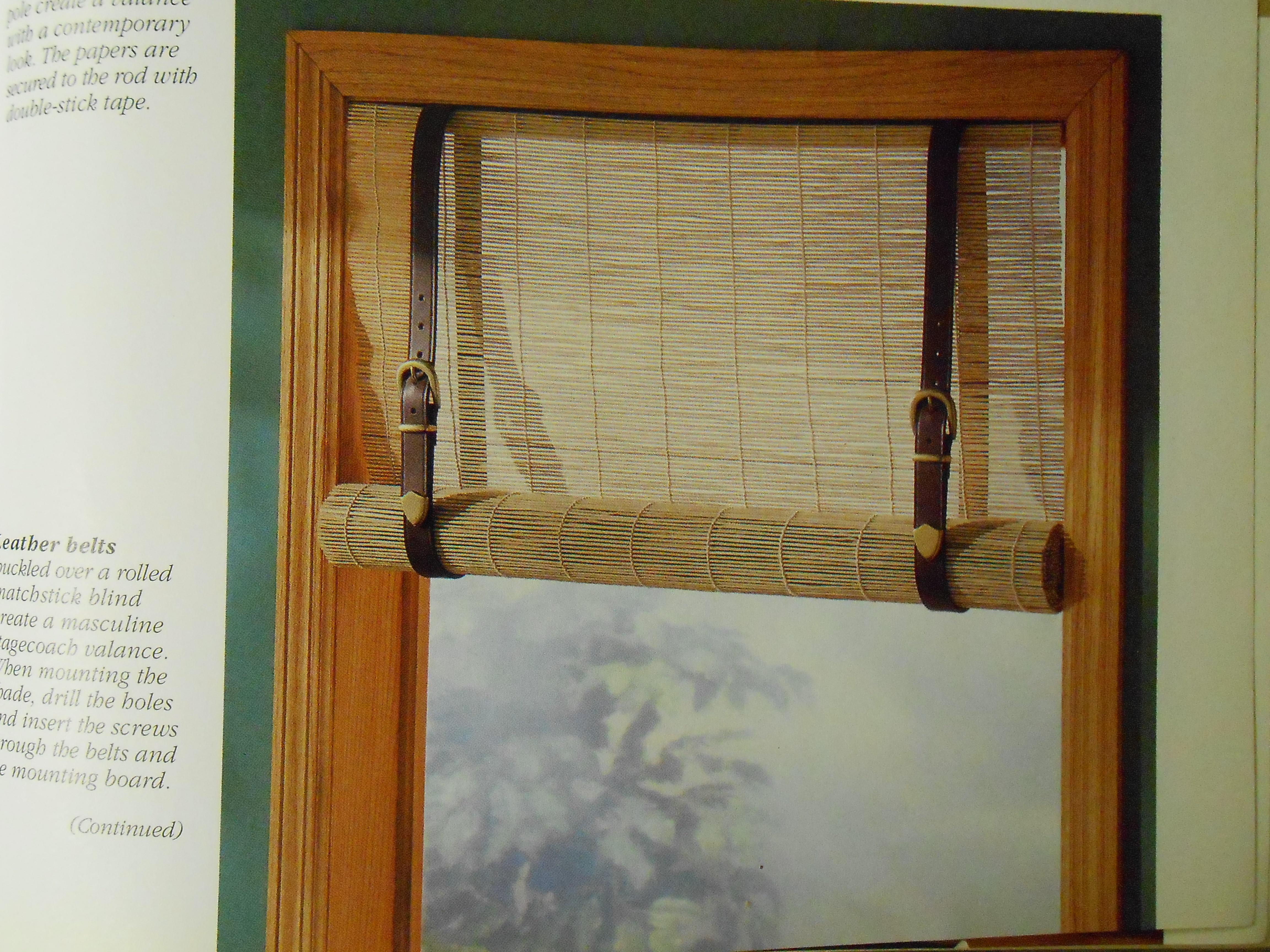 Creative Window Treatments No Sew